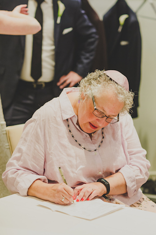 Rabbi Gail Nalven: Signing Ketubah