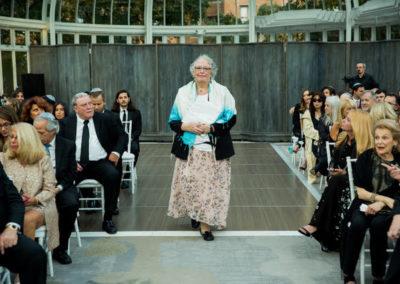 female rabbi entering wedding ceremony