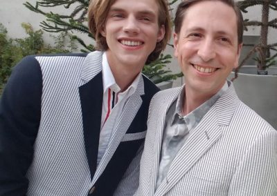 happy gay New York couple on their wedding day